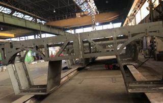 Bootsrumpf Stahlbauteil